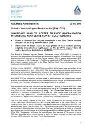 (ASX: CYU) SIGNIFICANT SHALLOW COPPER ... - Goldsearch