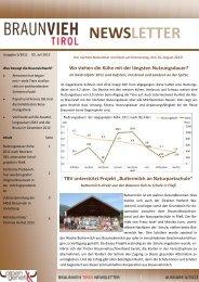 Ausgabe Juli 5/2012 - Braunvieh Tirol