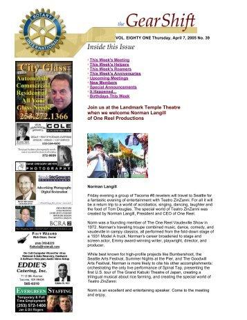 April 7, 2005 - Rotary 8