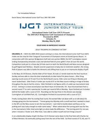IJGT Bridgestone Golf Tournament of Champions presented by BMW