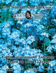 green, growing, and american Owned for over 112 ... - Page's Seeds