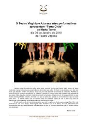 press release_terra chão - Teatro Virgínia