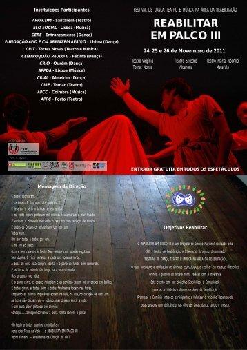 REABILITAR EM PALCO III 24, 25 e 26 de ... - Teatro Virgínia