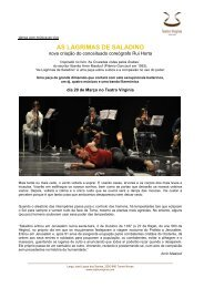 press release_As Lágrimas de Saladino em torres ... - Teatro Virgínia