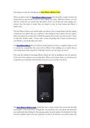 The Features to Look for when Buying the Best iPhone 6 Battery Cases.pdf