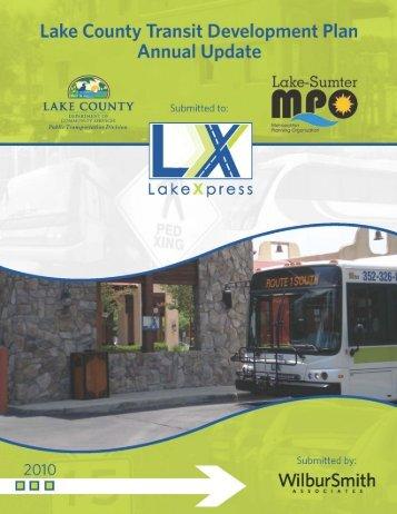 Lake County Transit Develop Plan Annual Update - 2010