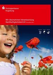 Meilensteine der Nachhaltigkeit - Kreissparkasse Augsburg