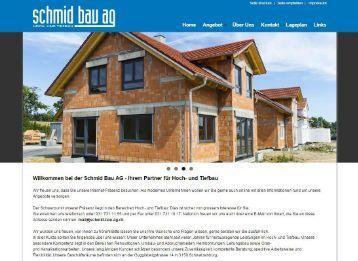Schmid Bau AG | Hoch- & Tiefbau