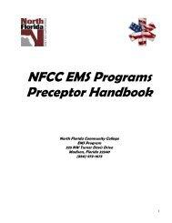 Preceptor Handbook 2013 - North Florida Community College