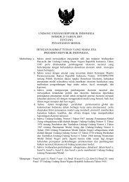 undang undang republik indonesia nomor 25 tahun 2007 tentang ...