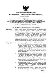 2/p/2008 tentang pedoman dan tata cara permohonan fasilitas paj