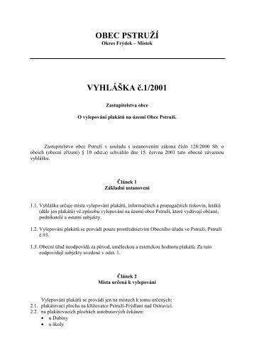 Vyhlaska-202001-1.pdf - Obec Pstruží