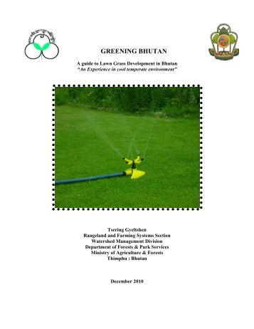 A guide to Lawn Grass Development for temperate - DoFPS