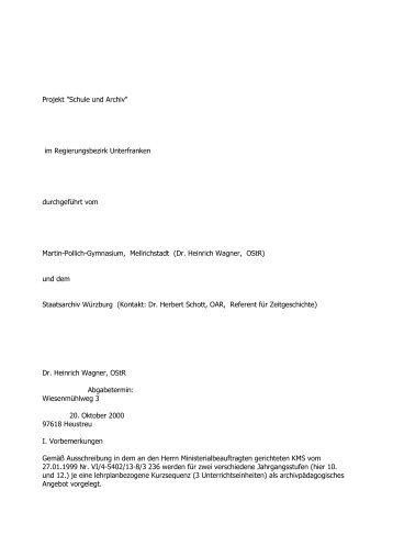 Schule und Archiv - Historisches Forum Bayern