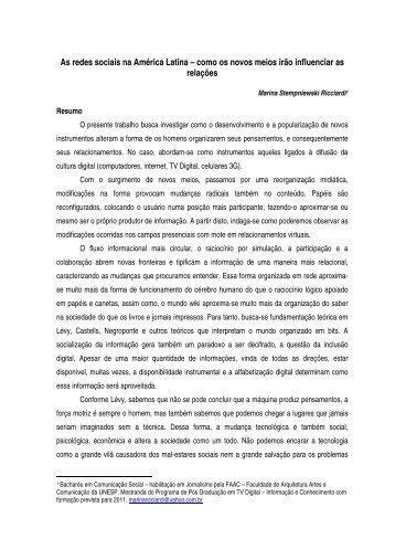 As redes sociais na América Latina – como os novos meios irão ...