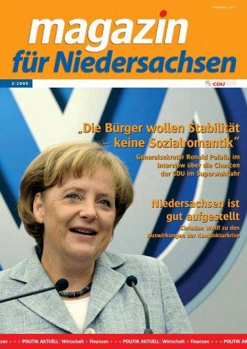 """""""Die Bürger wollen Stabilität – keine Sozialromantik ... - CDU Gehrden"""