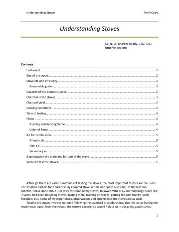 Understanding Stoves - BioEnergy Discussion Lists
