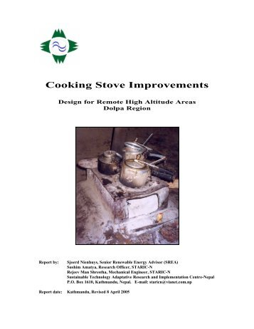 Cooking Stove Improvements - BioEnergy Discussion Lists