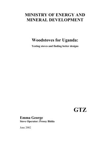 Woodstoves for Uganda - BioEnergy Discussion Lists