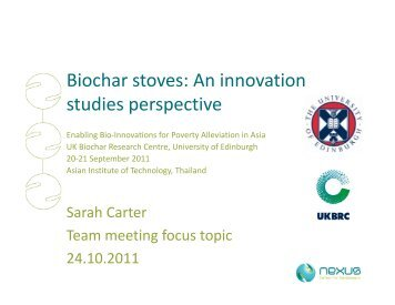 Biochar stoves - BioEnergy Discussion Lists