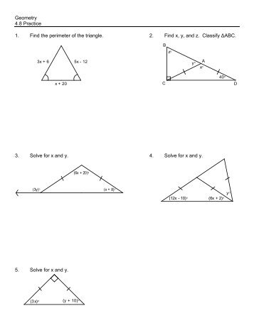Geometry K WS #2: Area of Parallelograms and Triangles