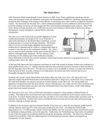 The Justa Stove - BioEnergy Discussion Lists