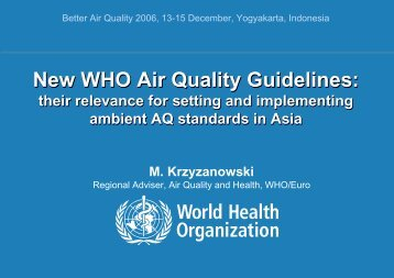 New WHO Air Quality Guidelines - BioEnergy Discussion Lists