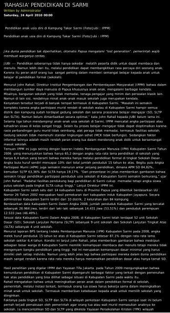 d Jubi Online || An Alternative Media in Tanah Papua ||Tabloid