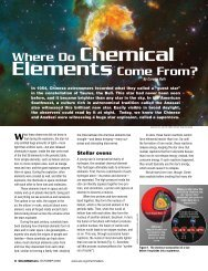 Where do Chemical Elements Come From? - Hinsdale South High ...