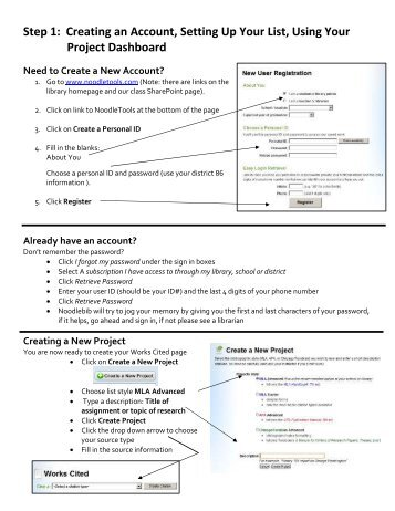NB Step 1-Creat Account and Set Up List Use your Dashboard