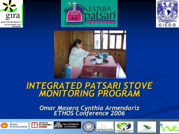 Integrated Patsari Stove Monitoring Program - BioEnergy Discussion ...