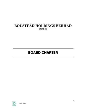 THE BOARD - Boustead Holdings Berhad