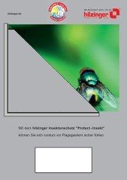 Mit dem hilzinger Insektenschutz