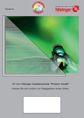 """Mit dem hilzinger Insektenschutz """"Protect - Insekt"""" können Sie sich ..."""
