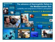 Tracking the advance of thermophilic fishes in the Mediterranean Sea