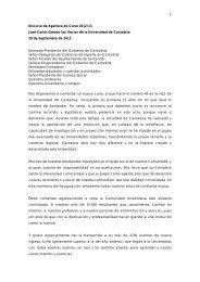 Discurso de Apertura de Curso 2012/13. José Carlos Gómez Sal ...