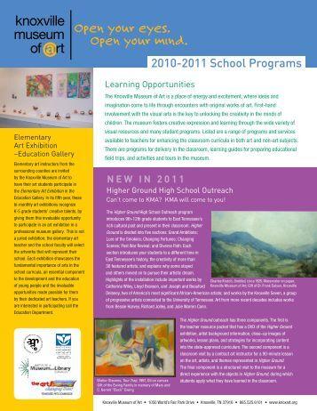 2010-2011 School Programs - Knoxville Museum of Art