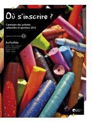 L'annuaire des activités culturelles et sportives ... - Le Petit Bulletin