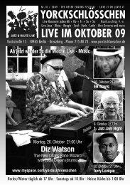 LIVE IM OKTOBER 09 - Yorckschlösschen