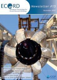 Newsletter #15 - European Consortium for Ocean Research Drilling