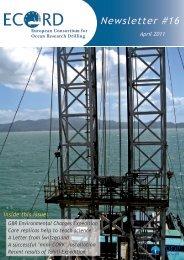 Newsletter #16 - European Consortium for Ocean Research Drilling