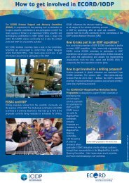 programme activities - European Consortium for Ocean Research ...