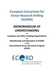 Memorandum of Understanding - European Consortium for Ocean ...