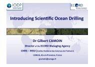 Presentation - European Consortium for Ocean Research Drilling