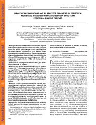 impact of ace inhibitors and aii receptor blockers on peritoneal ...