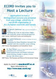 Host a Lecture - European Consortium for Ocean Research Drilling