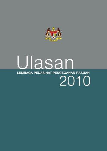 Ulasan Lembaga Penasihat Pencegahan Rasuah (LPPR) 2010