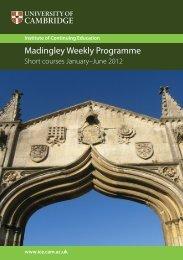 read it online - University of Cambridge Institute of Continuing ...
