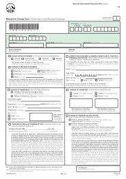 Request for Change Form / Permintaan Untuk Borang Pertukaran - AIA