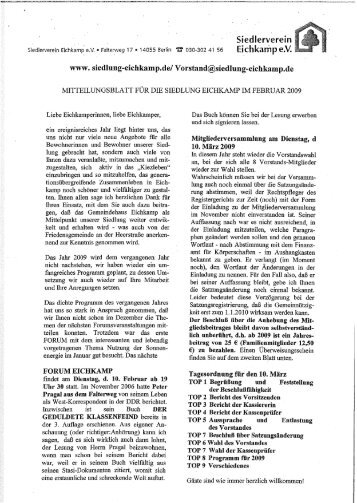 Februar - Siedlung Eichkamp
